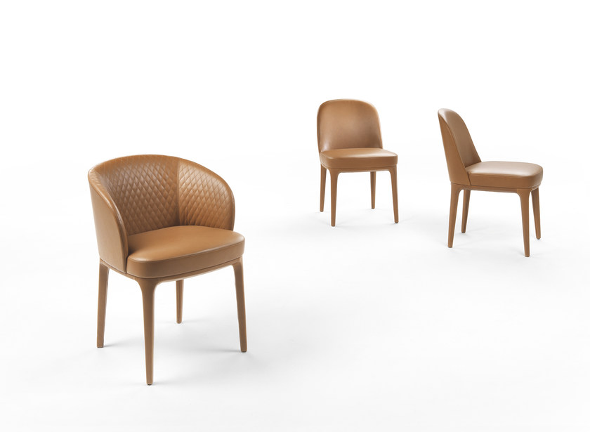 Petit fauteuil en cuir avec accoudoirs PARIS