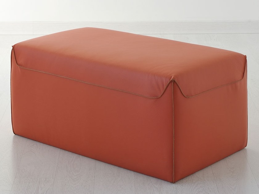 Rectangular leather pouf Leather pouf by Italy Dream Design