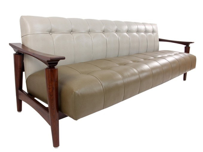 3 seater leather sofa NISADYA | Leather sofa by ALANKARAM