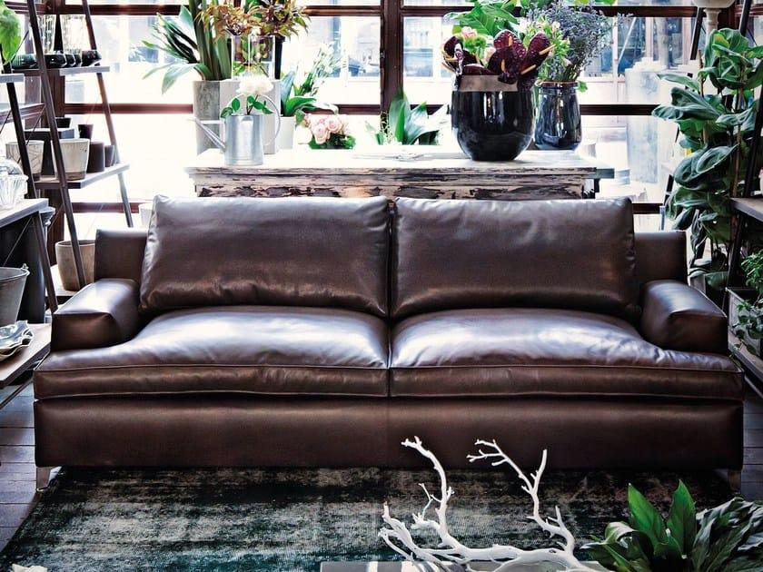 2 seater leather sofa MALTA   Leather sofa by Arketipo