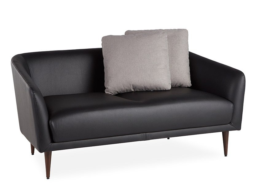 2 seater leather sofa BOOM | Leather sofa by B&T Design