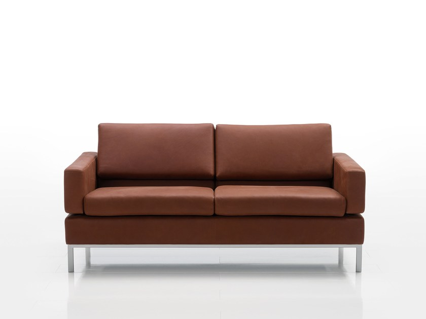 Recliner leather sofa TOMO | Leather sofa by brühl