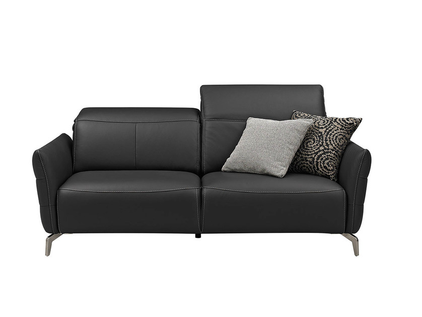 Upholstered leather sofa LIVEA   Leather sofa by GAUTIER FRANCE