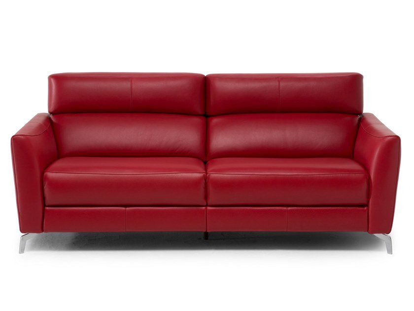 Recliner Leather Sofa Stan Leather Sofa Stan Collection By Natuzzi - Red-italian-leather-armchairs-from-natuzzi