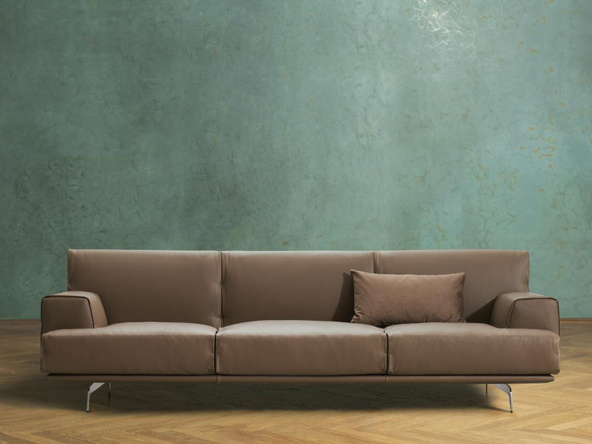 3 seater leather sofa SIXTY | Leather sofa by Papadatos