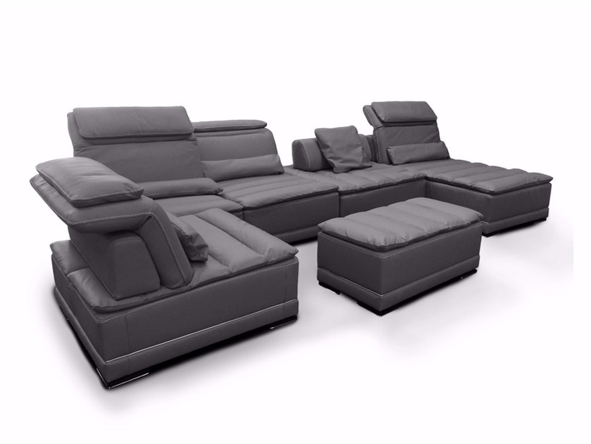 Modular leather sofa CALIFORNIA | Leather sofa by Nieri
