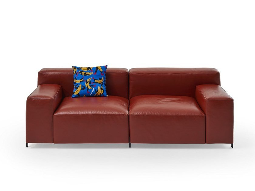 2 seater leather sofa MOUSSE | Leather sofa by Sancal