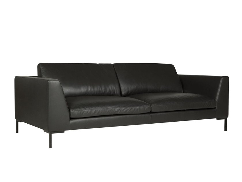 Upholstered 3 seater leather sofa TOKYO | Leather sofa by SITS