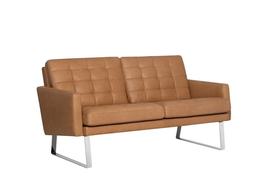 2 seater leather sofa FINE | Leather sofa by Sits