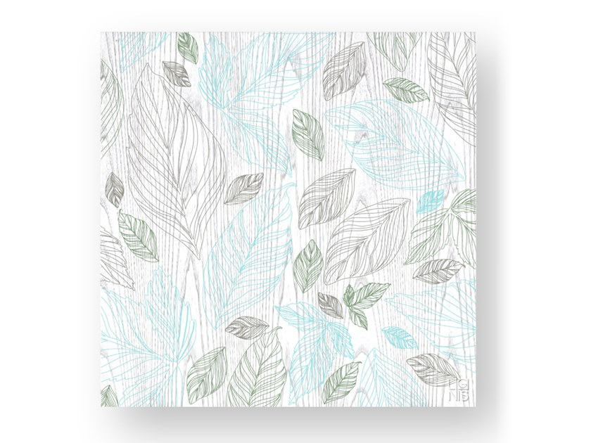 Quadro in legno stuccato LEAVES COLORS by LIGNIS®