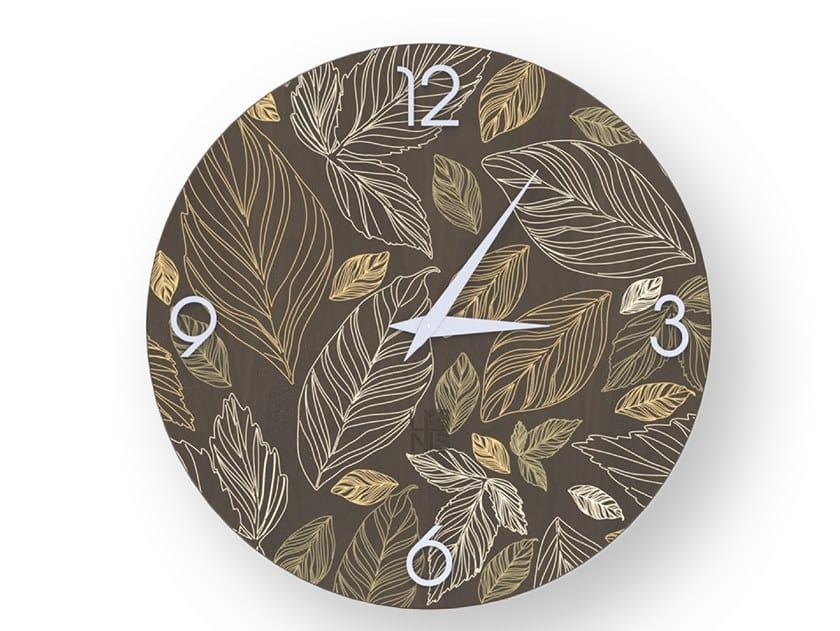 Orologio da parete in legno stuccato LEAVES WARM | Orologio by LIGNIS®