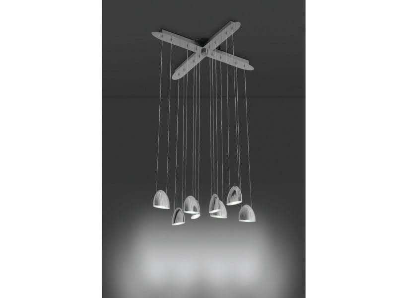 LED metal pendant lamp LED OVAL | Metal pendant lamp by ALMA LIGHT