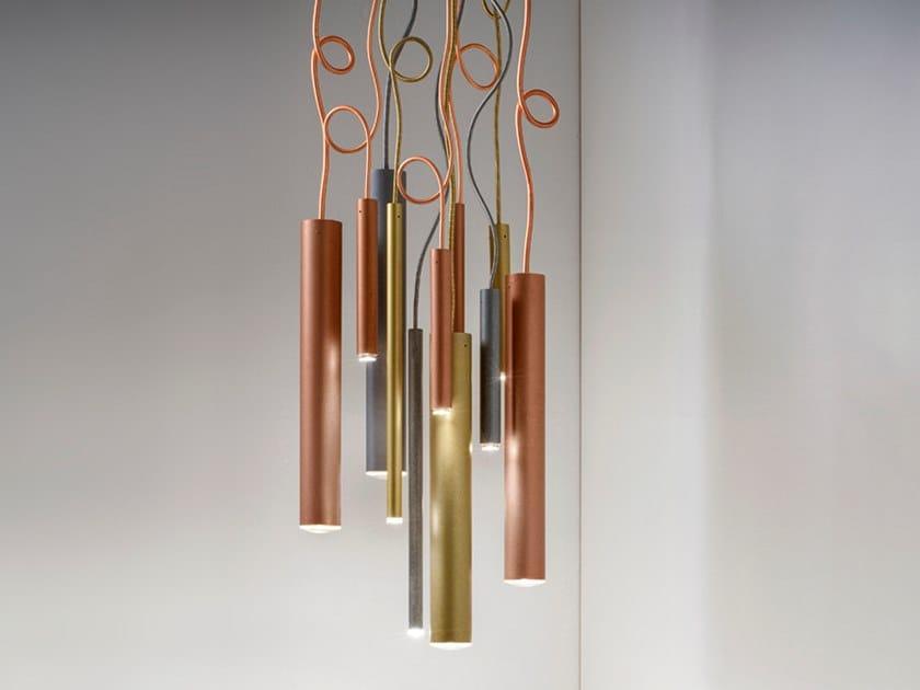Lampada a sospensione a LED TUBÒ | Lampada a sospensione a LED by Aldo Bernardi