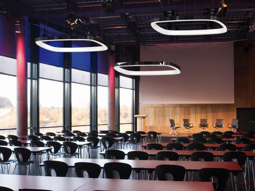 LED aluminium pendant lamp SOFT QUADRA | LED pendant lamp by Sattler