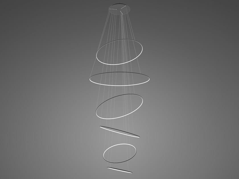 Lampada a sospensione a LED in alluminio LED RINGS NO. 6 by Altavola Design