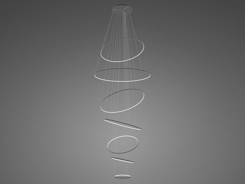 Lampada a sospensione a LED in alluminio LED RINGS NO. 7 by Altavola Design