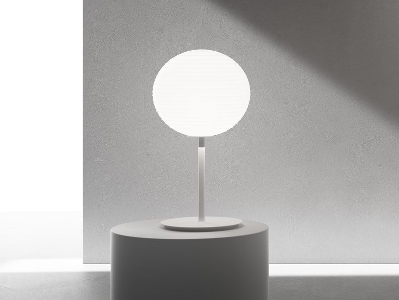 LED blown glass table lamp FLOWGLASS | LED table lamp by Rotaliana