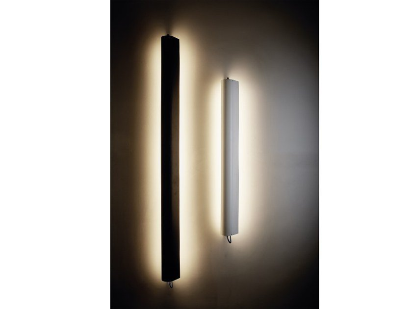 LED direct-indirect light Borosilicate glass wall lamp IN THE TUBE 360° FLAP by DCW éditions
