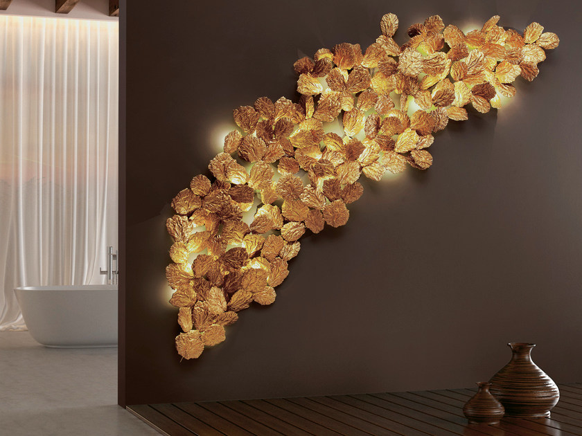 LED bronze wall lamp PATHLEAF | LED wall lamp by Serip