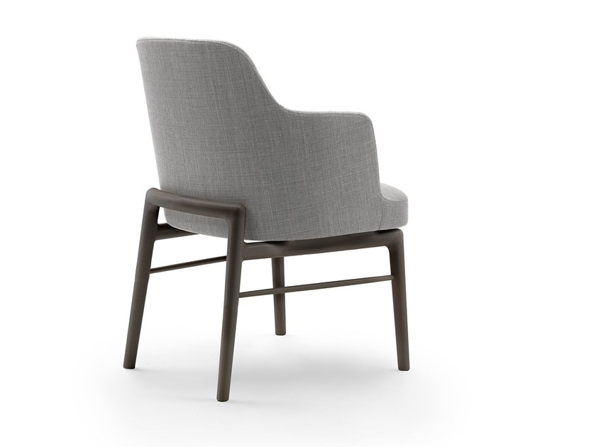 Upholstered chair with armrests LEDA | Chair with armrests by FLEXFORM