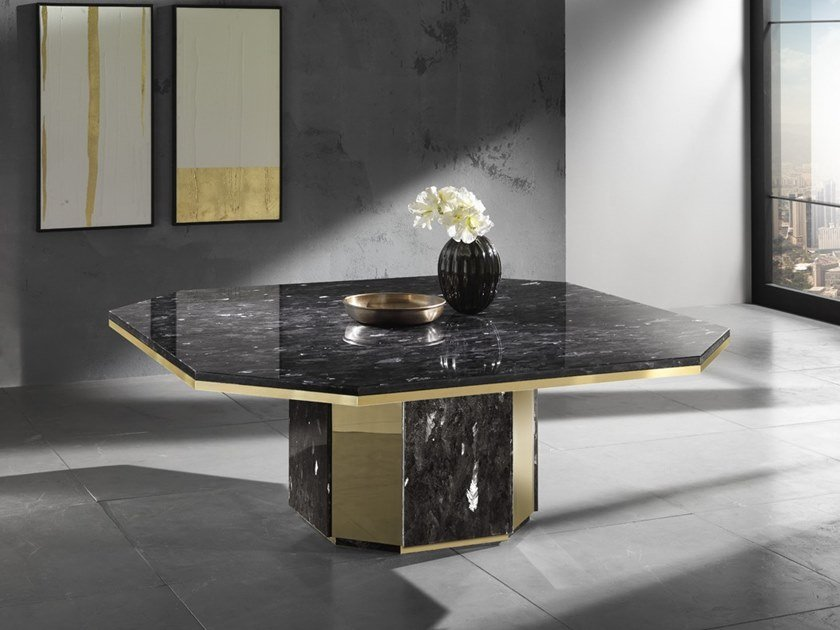 Natural stone table LEDA by Crystal Stone