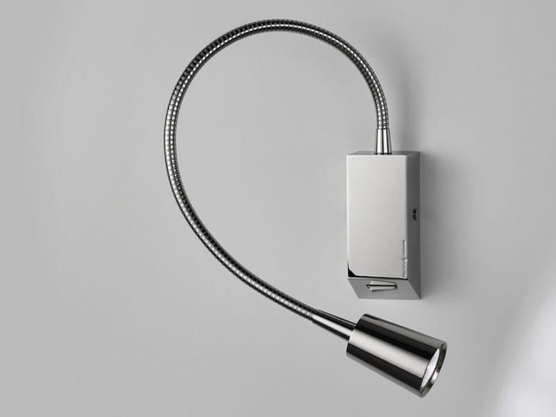 LED brass reading lamp with swing arm LEDDI by PURALUCE