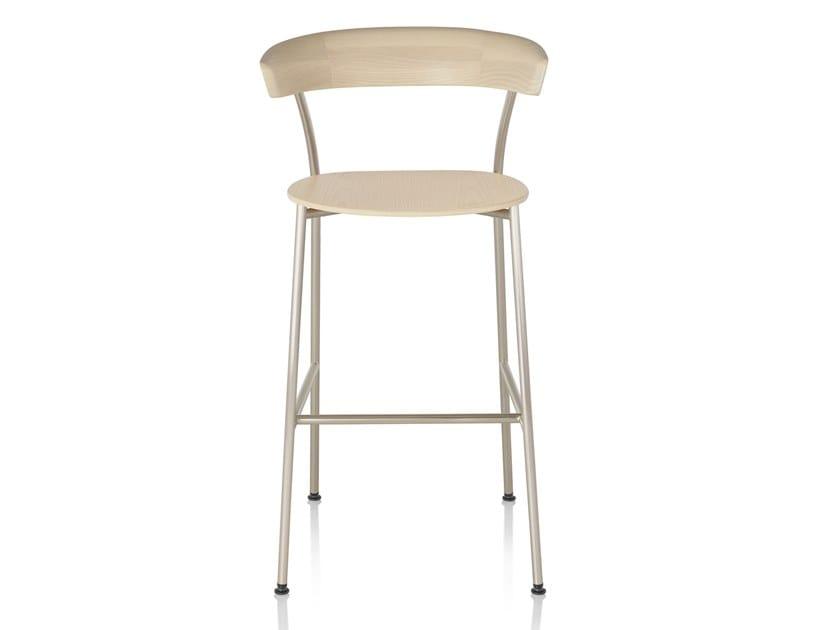Wooden stool LEEWAY | Stool by Herman Miller