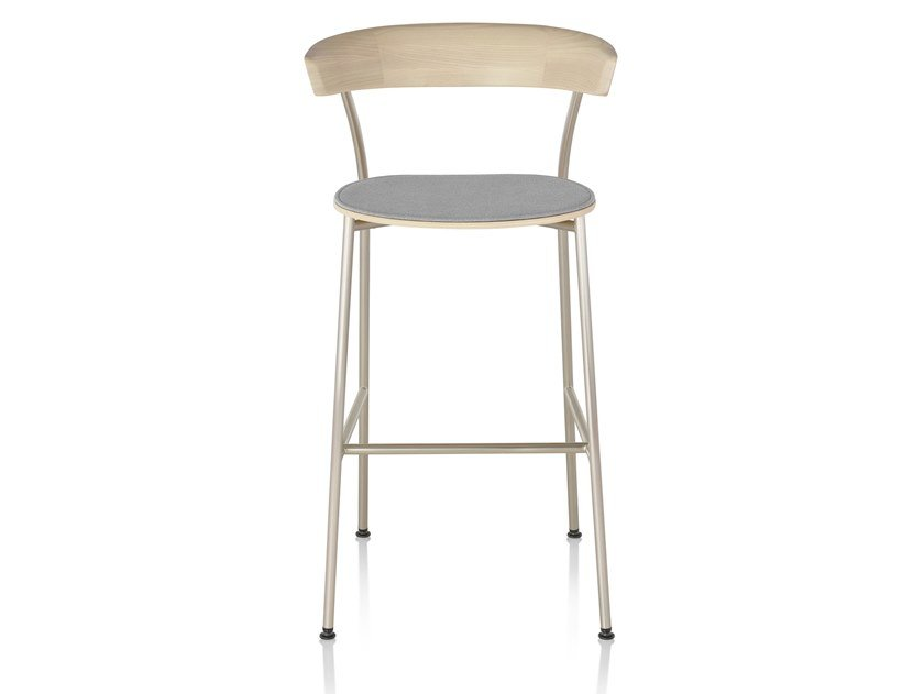 Wooden stool with integrated cushion LEEWAY | Stool with integrated cushion by Herman Miller