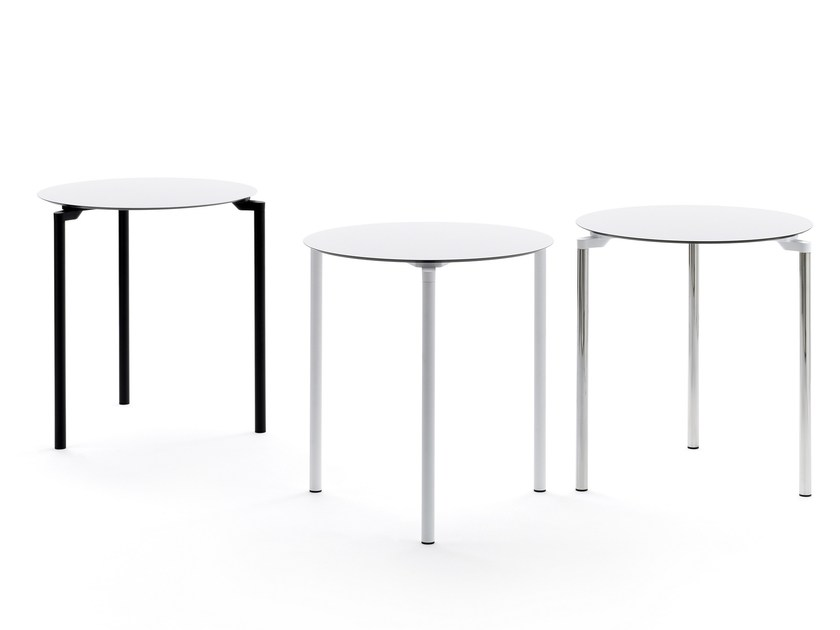 Stackable round table LEG 03 by Diemmebi