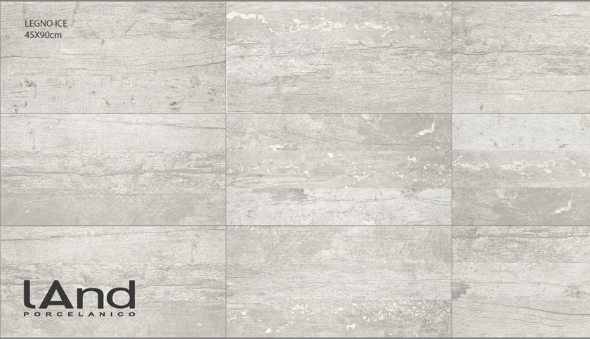 Technical porcelain flooring with wood effect LEGNO ICE by Land Porcelanico