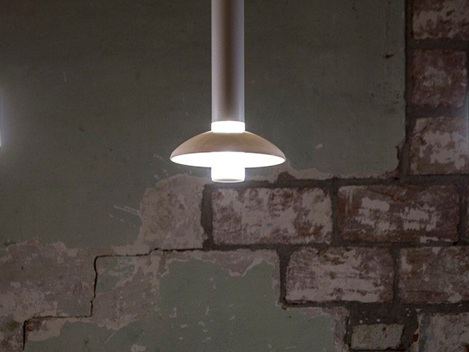 LED PMMA pendant lamp LEI by Kriladesign