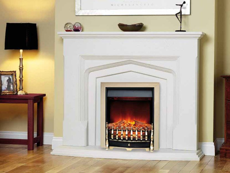 Electric wall-mounted fireplace LEIGHFIELD by BRITISH FIRES