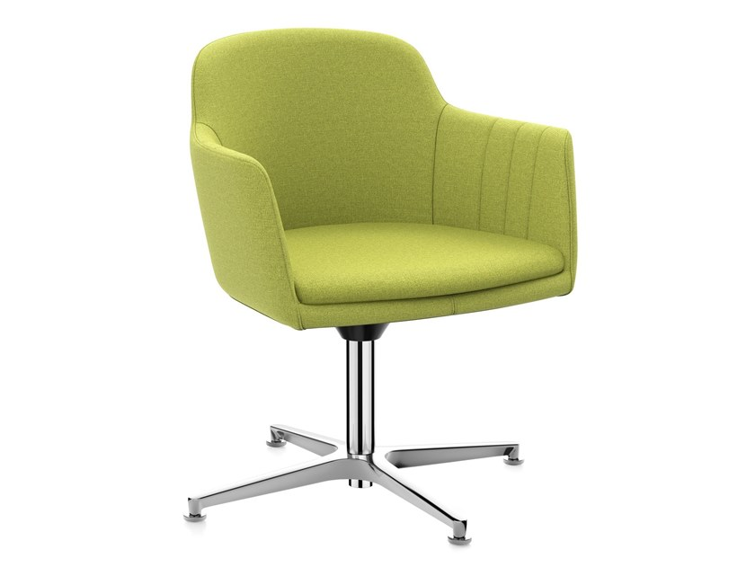 Fabric task chair with 4-Spoke base with armrests LEMON IS5 LM740 | Fabric task chair by Interstuhl