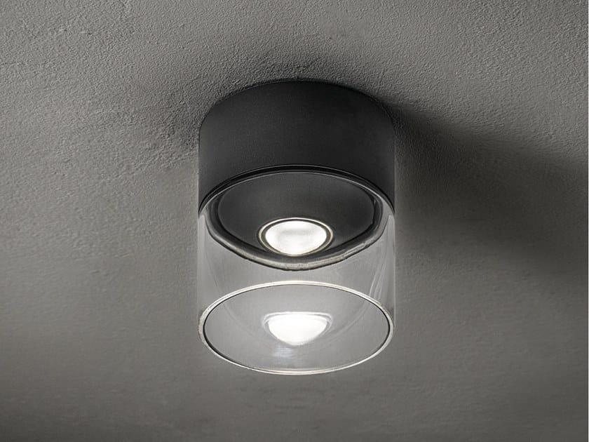 Lampada da soffitto per esterno a LED in alluminio e vetro LENS | Lampada da soffitto per esterno by AiLati