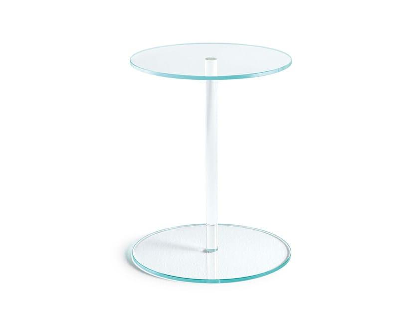 Tavolino / comodino in vetro LENS by Tonelli Design