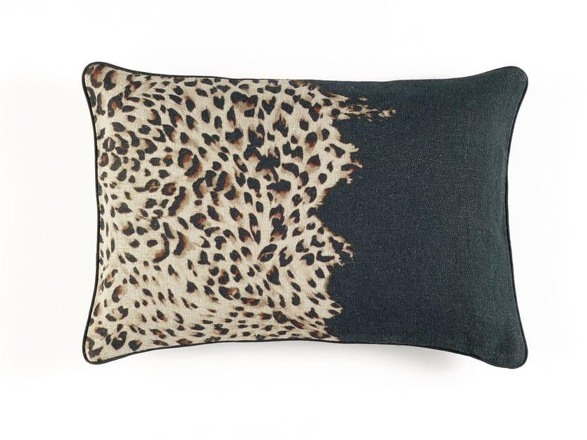 Animalier rectangular cushion LEO by Élitis