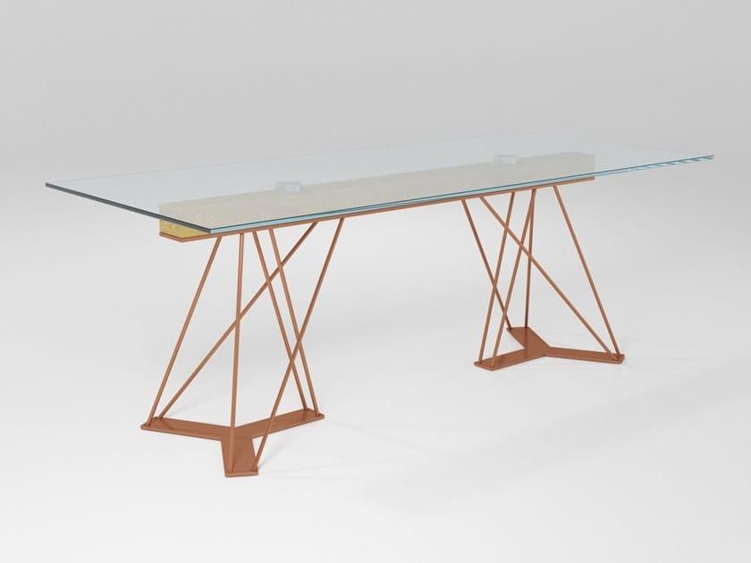 Rectangular crystal table LEON | Crystal table by Barel