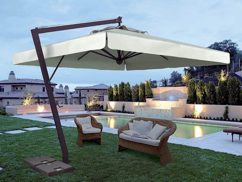 Adjustable offset Garden umbrella LEONARDO BRACCIO by Scolaro Parasol