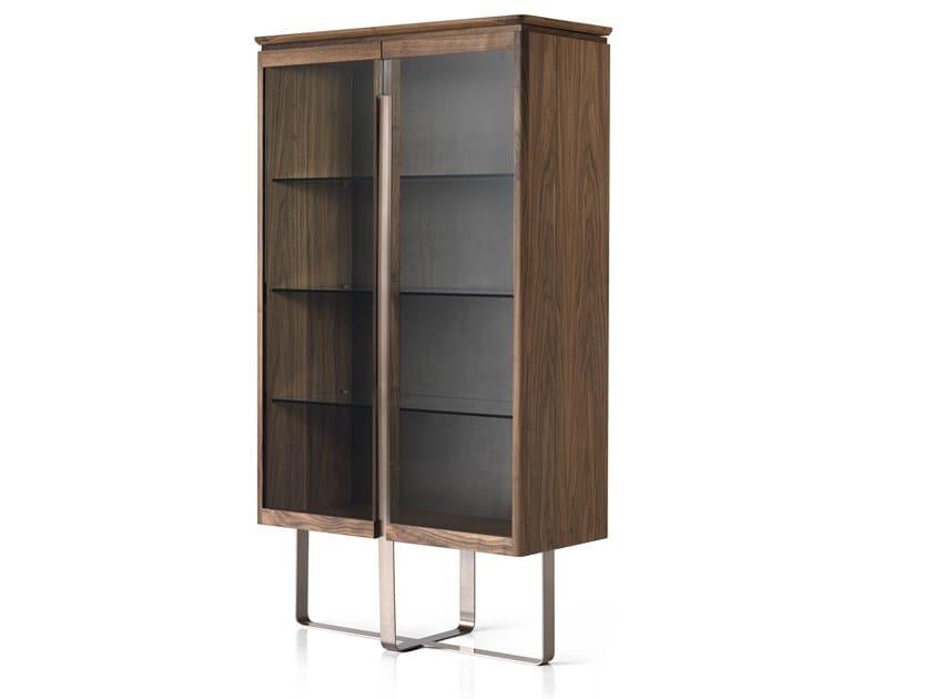 Walnut display cabinet LEONARDO L513N | Display cabinet by Arte Brotto