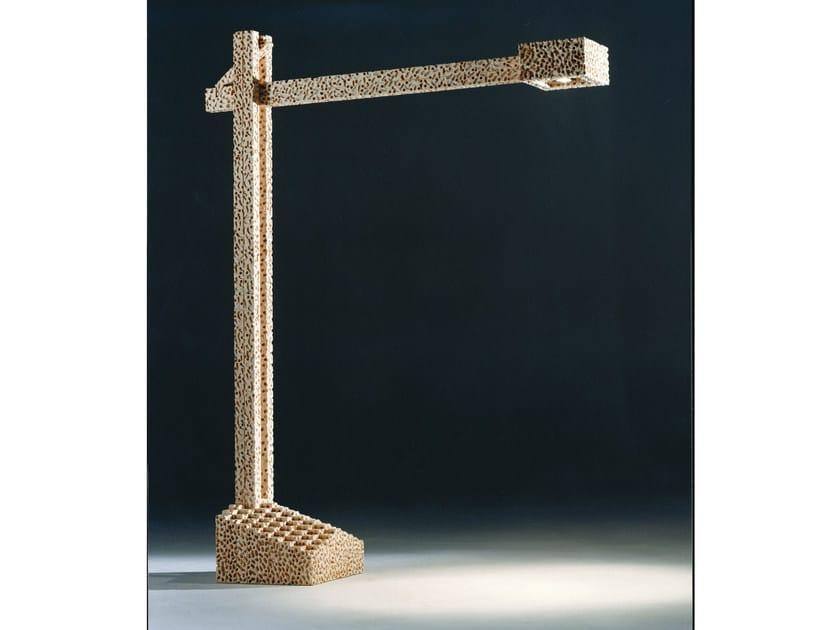 Handmade wooden floor lamp LEONARDO | Floor lamp by Mirabili