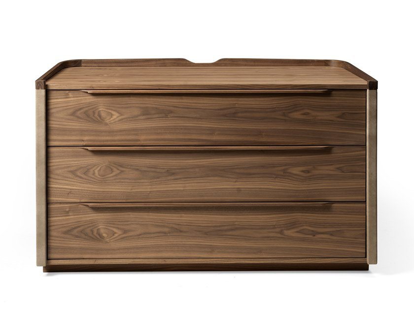 Walnut chest of drawers LEONARDO L335L | Chest of drawers by Arte Brotto
