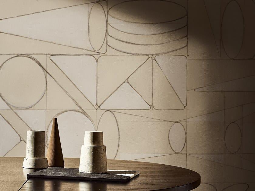 Geometric wallpaper LEONARDO by Wall&decò