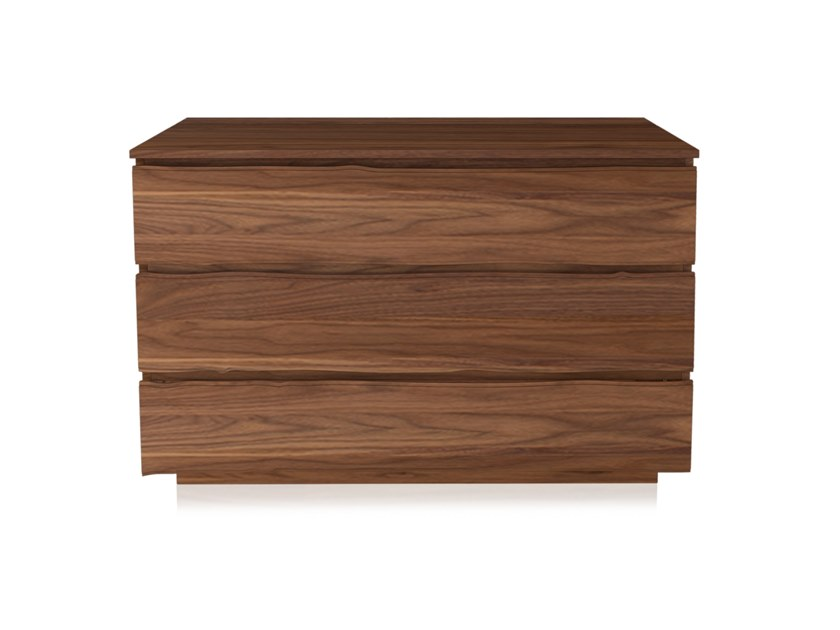Chest of drawers with integrated handles LEONARDO L325   Walnut chest of drawers by Arte Brotto