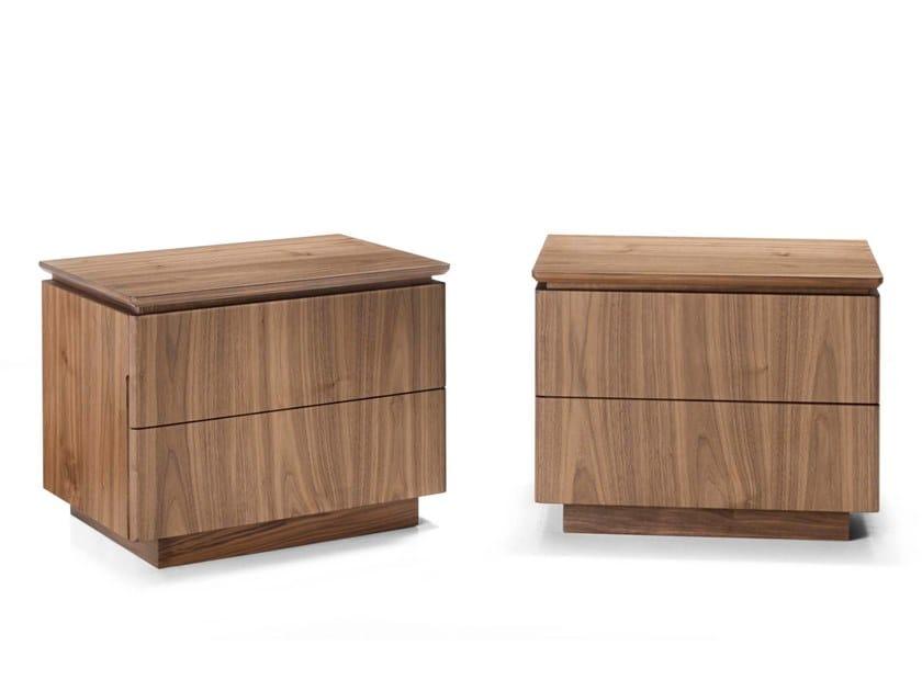 Walnut bedside table LEONARDO L113N | Bedside table by Arte Brotto