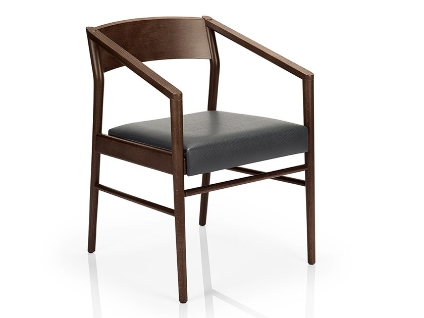 Solid wood chair with armrests LEONOR M925C UW by JMS