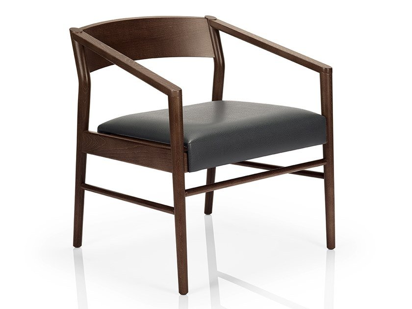 Solid wood easy chair with armrests LEONOR M927 UW by JMS