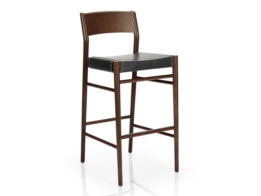 Solid wood barstool LEONOR M929 LW by JMS
