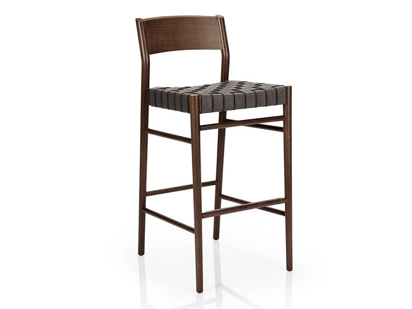 Solid wood barstool LEONOR M929 TW by JMS