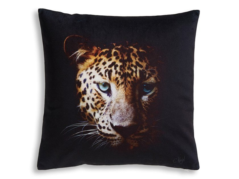 Square cushion LEOPARD by Koziel