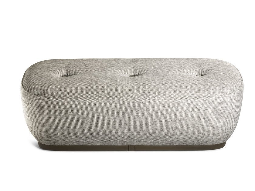 Upholstered fabric bench LEPLI' | Fabric bench by Poltrona Frau